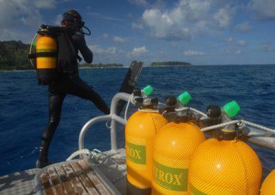 Mise à l'eau - Plongée au Nitrox en Polynésie avec TOPDIVE
